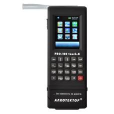Алкометр Алкотектор PRO-100 touch-K с электрохимическим датчиком со встроенным принтером, профессиональный алкотестер с поверкой